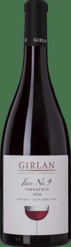 12,95 € Envío gratis | Vino tinto Girlan Fass 9 D.O.C. Alto Adige Trentino-Alto Adige Italia Schiava Botella 75 cl