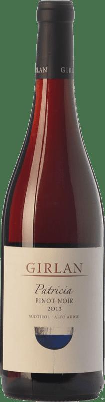 17,95 € Envío gratis | Vino tinto Girlan Pinot Nero Patricia D.O.C. Alto Adige Trentino-Alto Adige Italia Pinot Negro Botella 75 cl