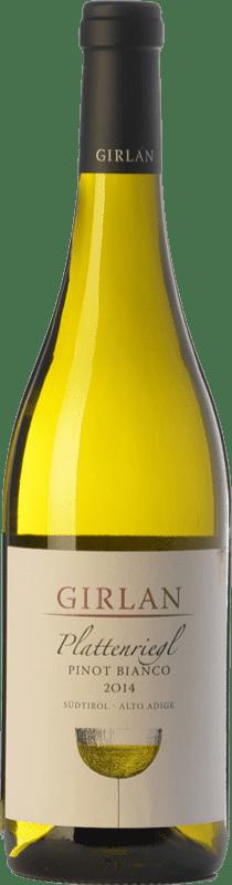 13,95 € Envío gratis | Vino blanco Girlan Pinot Bianco Plattenriegl D.O.C. Alto Adige Trentino-Alto Adige Italia Pinot Blanco Botella 75 cl