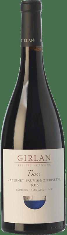 13,95 € Envío gratis | Vino tinto Girlan Riserva Doss Reserva D.O.C. Alto Adige Trentino-Alto Adige Italia Cabernet Sauvignon Botella 75 cl