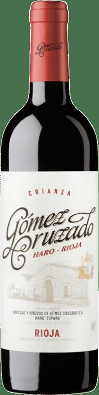 12,95 € Envío gratis | Vino tinto Gómez Cruzado Crianza D.O.Ca. Rioja La Rioja España Tempranillo, Garnacha Botella 75 cl