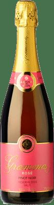 18,95 € 免费送货 | 玫瑰气泡酒 Gramona Rosat 香槟 Reserva D.O. Cava 加泰罗尼亚 西班牙 Pinot Black 瓶子 75 cl | 成千上万的葡萄酒爱好者信赖我们,保证最优惠的价格,免费送货,购买和退货,没有复杂性.