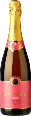 18,95 € Free Shipping | Rosé sparkling Gramona Rosat Brut Reserva D.O. Cava Catalonia Spain Pinot Black Bottle 75 cl. | Thousands of wine lovers trust us to get the best price guarantee, free shipping always and hassle-free shopping and returns.