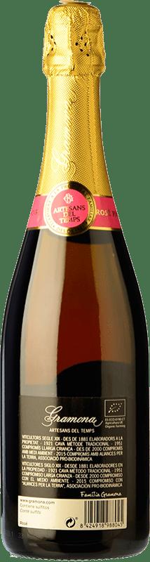 23,95 € Envoi gratuit | Rosé moussant Gramona Rosat Brut Reserva D.O. Cava Catalogne Espagne Pinot Noir Bouteille 75 cl