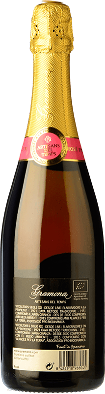23,95 € Free Shipping | Rosé sparkling Gramona Rosat Brut Reserva D.O. Cava Catalonia Spain Pinot Black Bottle 75 cl