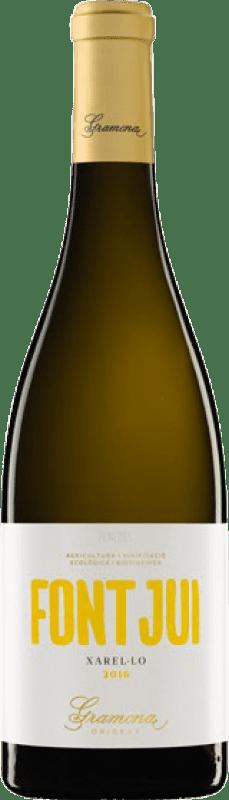 14,95 € Envio grátis | Vinho branco Gramona Font Jui Crianza D.O. Penedès Catalunha Espanha Xarel·lo Garrafa 75 cl