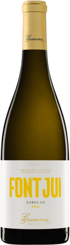 12,95 € Free Shipping | White wine Gramona Font Jui Crianza D.O. Penedès Catalonia Spain Xarel·lo Bottle 75 cl