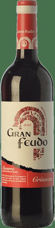 4,95 € Free Shipping | Red wine Gran Feudo Crianza D.O. Navarra Navarre Spain Tempranillo, Grenache, Cabernet Sauvignon Bottle 75 cl