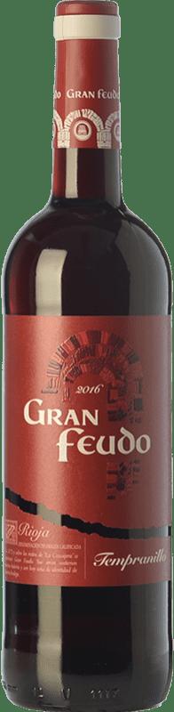 6,95 € Envío gratis | Vino tinto Gran Feudo Joven D.O.Ca. Rioja La Rioja España Tempranillo Botella 75 cl
