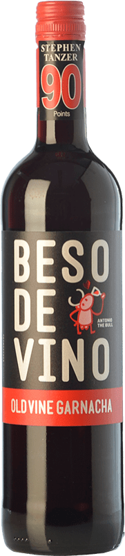 5,95 € Free Shipping | Red wine Grandes Vinos Beso de Vino Old Vine Joven D.O. Cariñena Aragon Spain Grenache Bottle 75 cl