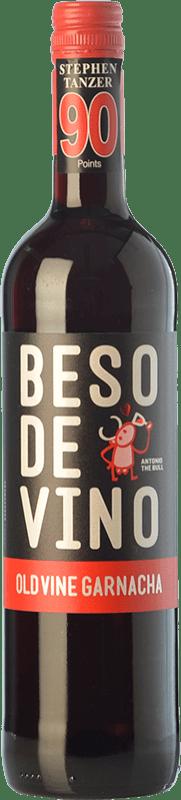 5,95 € Envío gratis | Vino tinto Grandes Vinos Beso de Vino Old Vine Joven D.O. Cariñena Aragón España Garnacha Botella 75 cl