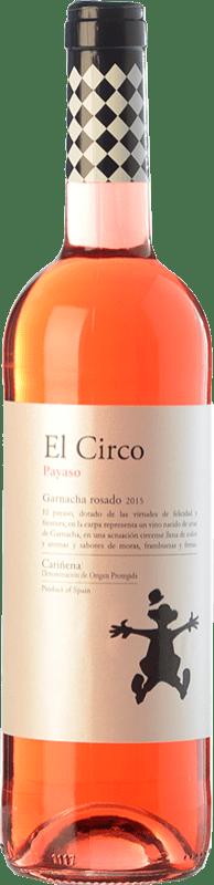 4,95 € Free Shipping | Rosé wine Grandes Vinos El Circo Payaso Joven D.O. Cariñena Aragon Spain Grenache Bottle 75 cl