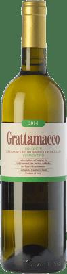 39,95 € Envío gratis | Vino blanco Grattamacco D.O.C. Bolgheri Toscana Italia Vermentino Botella 75 cl