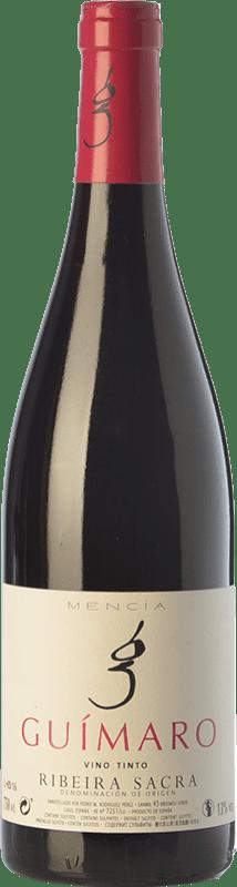 9,95 € Envío gratis | Vino tinto Guímaro Joven D.O. Ribeira Sacra Galicia España Mencía, Sousón, Caíño Tinto Botella 75 cl