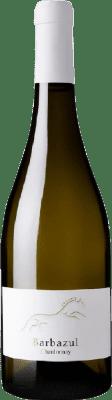 9,95 € Envío gratis | Vino blanco Huerta de Albalá Barbazul I.G.P. Vino de la Tierra de Cádiz Andalucía España Chardonnay Botella 75 cl