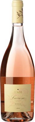 6,95 € Бесплатная доставка | Розовое вино Izadi Larrosa D.O.Ca. Rioja Ла-Риоха Испания Grenache бутылка 75 cl | Тысячи любителей вина уверены, что у нас гарантирована лучшая цена, всегда поставляются бесплатно и покупают и возвращают без осложнений.