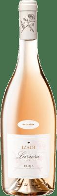 6,95 € Envio grátis | Vinho rosé Izadi Larrosa D.O.Ca. Rioja La Rioja Espanha Grenache Garrafa 75 cl. | Milhares de amantes do vinho confiam em nós com a garantia do melhor preço, envio sempre grátis e compras e devoluções sem complicações.
