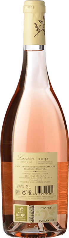 6,95 € Kostenloser Versand | Rosé-Wein Izadi Larrosa D.O.Ca. Rioja La Rioja Spanien Grenache Flasche 75 cl