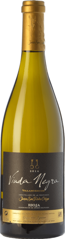 18,95 € Free Shipping | White wine San Pedro Ortega Viuda Negra Villahuercos Crianza D.O.Ca. Rioja The Rioja Spain Tempranillo White Bottle 75 cl