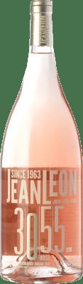 29,95 € Free Shipping | Rosé wine Jean Leon 3055 Rosé D.O. Penedès Catalonia Spain Merlot, Cabernet Sauvignon Magnum Bottle 1,5 L