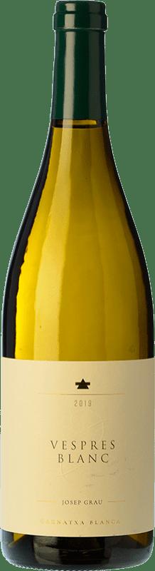 11,95 € Free Shipping | White wine Josep Grau Vespres Blanc Crianza D.O. Montsant Catalonia Spain Grenache White Bottle 75 cl