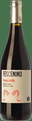 5,95 € Envío gratis | Vino tinto Juan Manuel Burgos Fescenino Joven D.O. Ribera del Duero Castilla y León España Tempranillo Botella 75 cl
