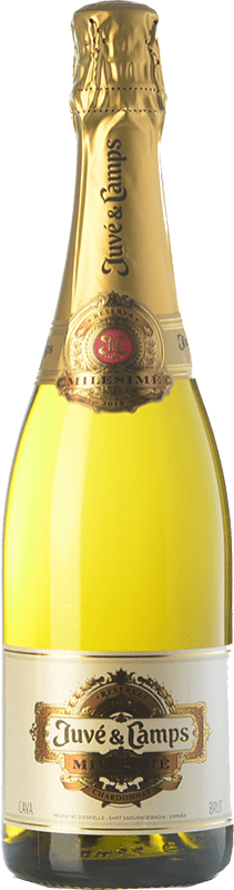 29,95 € Free Shipping | White sparkling Juvé y Camps Millésime Reserva D.O. Cava Catalonia Spain Chardonnay Bottle 75 cl
