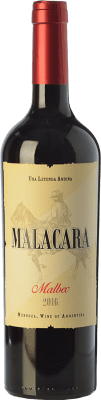 12,95 € Free Shipping | Red wine Kauzo Malacara Joven I.G. Valle de Uco Uco Valley Argentina Malbec Bottle 75 cl