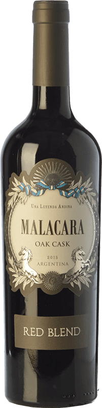 12,95 € Free Shipping | Red wine Kauzo Malacara Oak Cask Red Blend Joven I.G. Valle de Uco Uco Valley Argentina Merlot, Cabernet Sauvignon, Malbec Bottle 75 cl