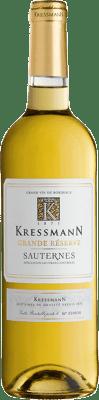 17,95 € Kostenloser Versand | Süßer Wein Kressmann Grande Réserve Gran Reserva A.O.C. Sauternes Bordeaux Frankreich Sauvignon Weiß, Sémillon Flasche 75 cl