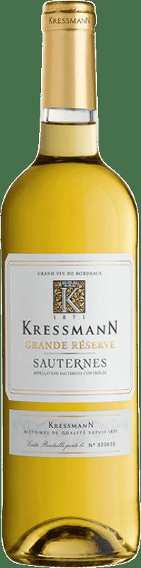 17,95 € Envío gratis   Vino dulce Kressmann Grande Réserve Gran Reserva A.O.C. Sauternes Burdeos Francia Sauvignon Blanca, Sémillon Botella 75 cl