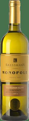 7,95 € Kostenloser Versand | Weißwein Kressmann Monopole Blanc Crianza A.O.C. Bordeaux Bordeaux Frankreich Sauvignon Weiß Flasche 75 cl