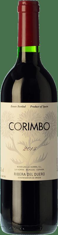 22,95 € Envío gratis | Vino tinto La Horra Corimbo Crianza D.O. Ribera del Duero Castilla y León España Tempranillo Botella 75 cl