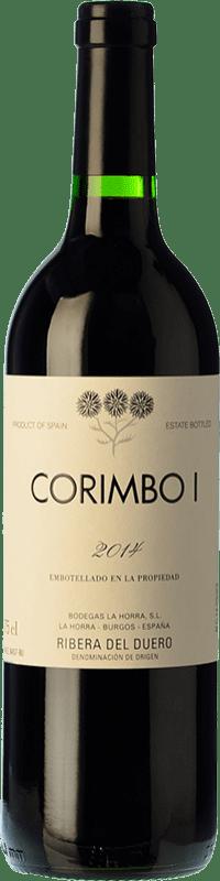 37,95 € Free Shipping | Red wine La Horra Corimbo I Crianza D.O. Ribera del Duero Castilla y León Spain Tempranillo Bottle 75 cl