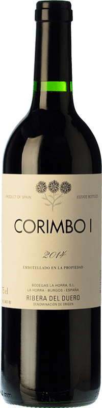 37,95 € Envío gratis | Vino tinto La Horra Corimbo I Crianza D.O. Ribera del Duero Castilla y León España Tempranillo Botella 75 cl