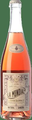 9,95 € Kostenloser Versand | Wein Sangria La Mundial Rosé Frizzante Katalonien Spanien Flasche 75 cl