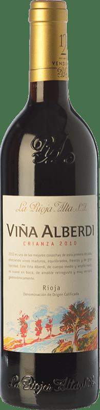 9,95 € Envío gratis | Vino tinto Rioja Alta Viña Alberdi Crianza D.O.Ca. Rioja La Rioja España Tempranillo Botella 75 cl