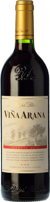 16,95 € Free Shipping | Red wine Rioja Alta Viña Arana Reserva 2009 D.O.Ca. Rioja The Rioja Spain Tempranillo, Mazuelo Bottle 75 cl. | Thousands of wine lovers trust us to get the best price guarantee, free shipping always and hassle-free shopping and returns.