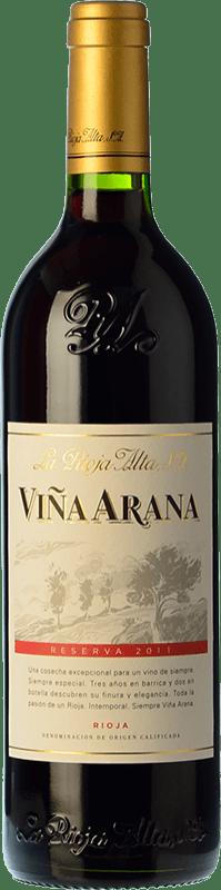 13,95 € Envío gratis | Vino tinto Rioja Alta Viña Arana Reserva D.O.Ca. Rioja La Rioja España Tempranillo, Mazuelo Botella 75 cl