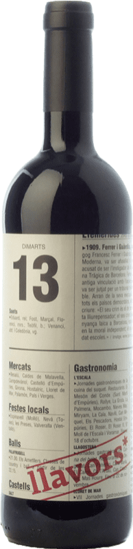 9,95 € Free Shipping | Red wine La Vinyeta Llavors Joven D.O. Empordà Catalonia Spain Merlot, Syrah, Cabernet Sauvignon, Carignan, Cabernet Franc Bottle 75 cl