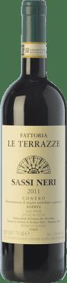 28,95 € Free Shipping | Red wine Le Terrazze Rosso Riserva Sassi Neri Reserva D.O.C.G. Conero Marche Italy Montepulciano Bottle 75 cl