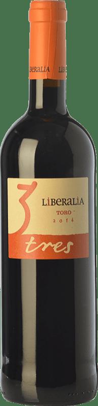 8,95 € Free Shipping | Red wine Liberalia Tres Joven D.O. Toro Castilla y León Spain Tinta de Toro Bottle 75 cl