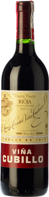 13,95 € Kostenloser Versand | Rotwein López de Heredia Viña Cubillo Crianza D.O.Ca. Rioja La Rioja Spanien Tempranillo, Grenache, Graciano, Mazuelo Flasche 75 cl