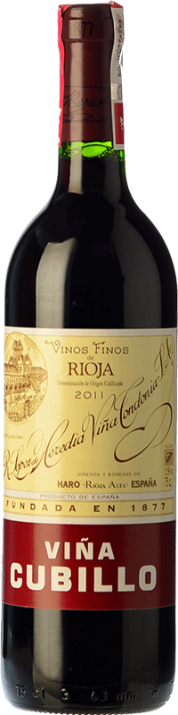 14,95 € Free Shipping | Red wine López de Heredia Viña Cubillo Crianza 2009 D.O.Ca. Rioja The Rioja Spain Tempranillo, Grenache, Graciano, Mazuelo Bottle 75 cl
