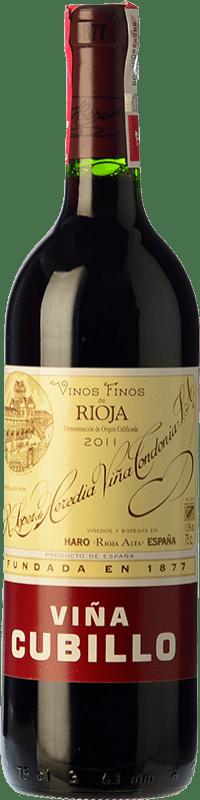 14,95 € Free Shipping | Red wine López de Heredia Viña Cubillo Crianza D.O.Ca. Rioja The Rioja Spain Tempranillo, Grenache, Graciano, Mazuelo Bottle 75 cl