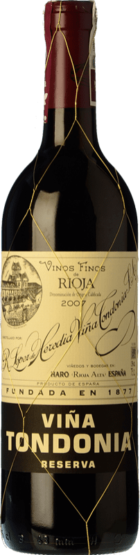 36,95 € Free Shipping | Red wine López de Heredia Viña Tondonia Reserva D.O.Ca. Rioja The Rioja Spain Tempranillo, Grenache, Graciano, Mazuelo Bottle 75 cl