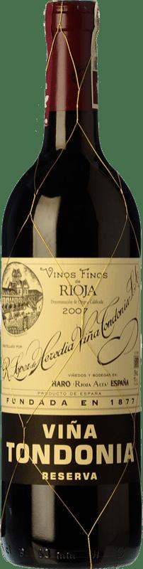29,95 € Free Shipping | Red wine López de Heredia Viña Tondonia Reserva D.O.Ca. Rioja The Rioja Spain Tempranillo, Grenache, Graciano, Mazuelo Bottle 75 cl
