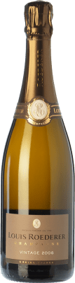 72,95 € Free Shipping | White sparkling Louis Roederer Vintage Gran Reserva 2009 A.O.C. Champagne Champagne France Pinot Black, Chardonnay Bottle 75 cl | Thousands of wine lovers trust us to get the best price guarantee, free shipping always and hassle-free shopping and returns.