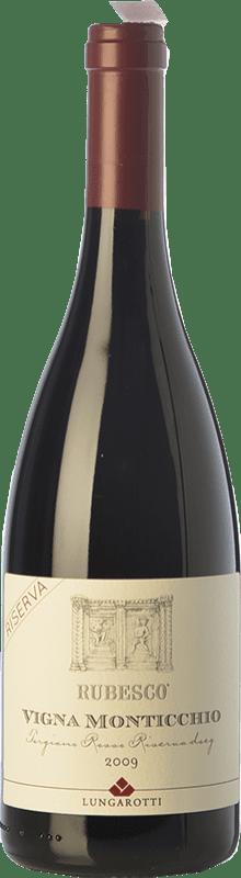 34,95 € Free Shipping | Red wine Lungarotti Rubesco Vigna Monticchio Reserva D.O.C.G. Torgiano Rosso Riserva Umbria Italy Sangiovese, Canaiolo Bottle 75 cl