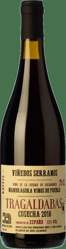 19,95 € Free Shipping | Red wine Mandrágora Tragaldabas Joven D.O.P. Vino de Calidad Sierra de Salamanca Castilla y León Spain Rufete, Aragonez Bottle 75 cl